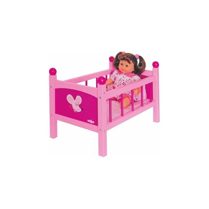 Woody Trendy 91300 - Drevená postieľka pre bábiky