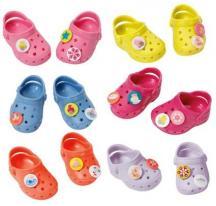 Zapf Creation Baby Born 824597 Gumené sandálky s ozdobami