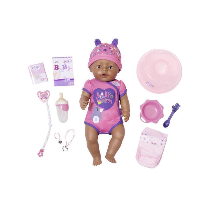 Zapf creation 824382 BABY born ® Soft Touch Dievčatko černoško interaktívna bábika