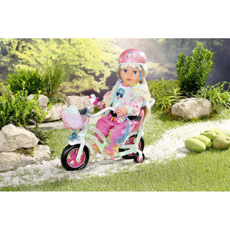 Zapf Creation 827215 Baby Born Prilba na bicykel