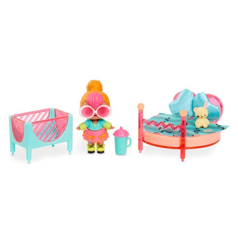 L.O.L. Surprise Nábytok s bábikou Neon so spálňou