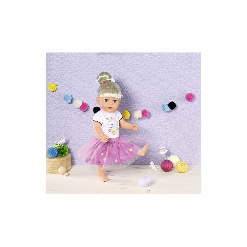 Zapf creation 870495 Dolly Moda Tričko s tutu sukienkou 43 cm