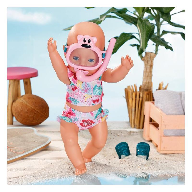 Zapf creation 829240 BABY born Súprava plavky a šnorchel 43 cm