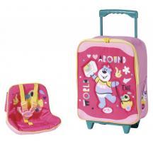 Zapf creation 828441 BABY born Cestovný kufrík so sedačkou pre bábiky