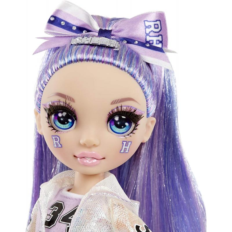 Rainbow High bábika roztlieskavačka Violet Willow